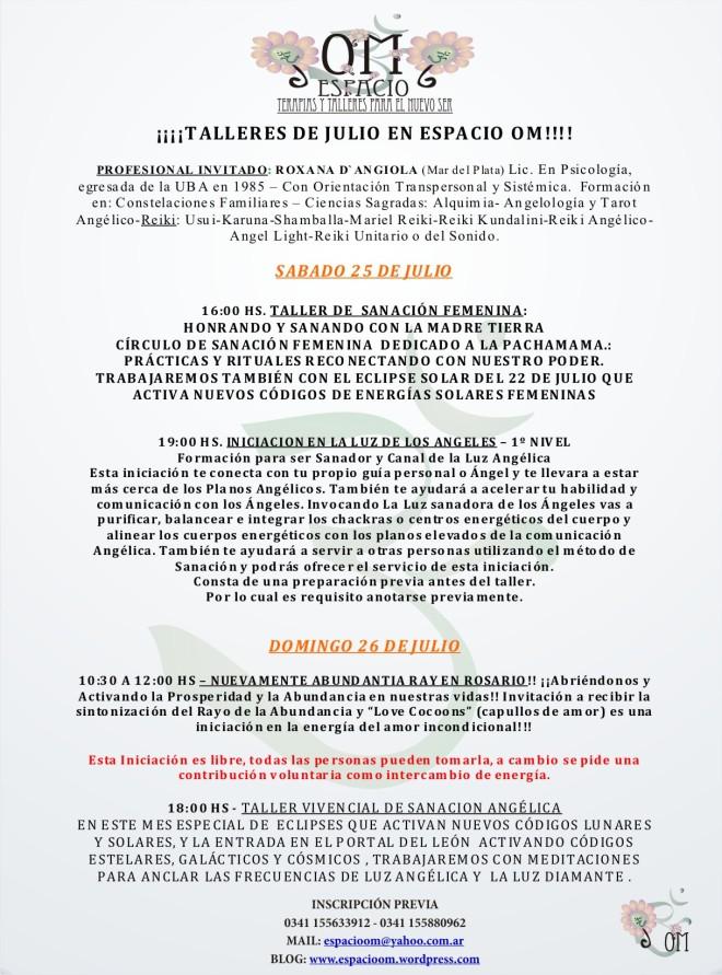 -TALLERES  JULIO EN ROSARIO