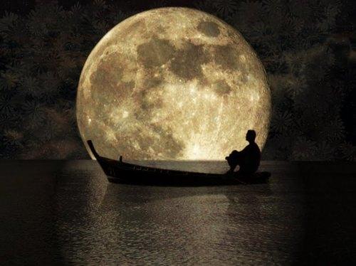luna y barca