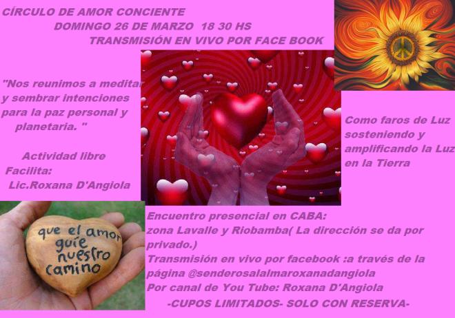 círculo de amor conciente- baires- 26 de marzo