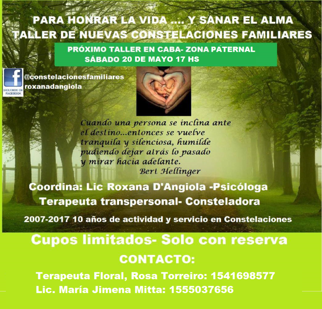 CONSTELACIONES 20 DE MAYO