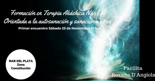 Formación en Terapia Akáshica Nivel I noviembre