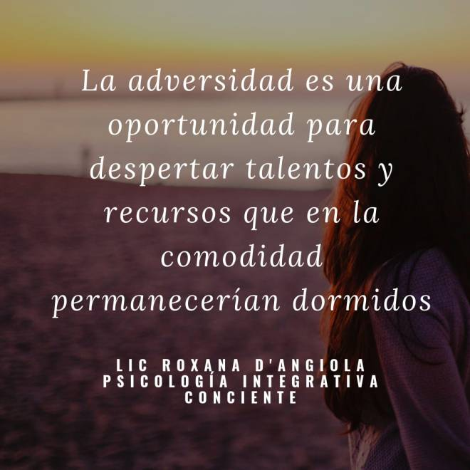 adversidad ...