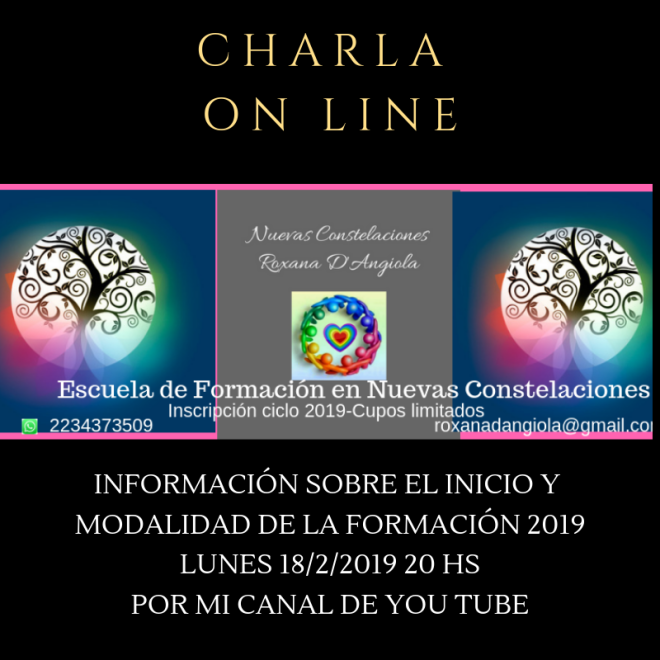 charla on line FORMACIÓN